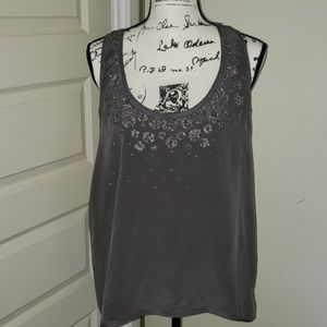 Silence+Noise silk beaded tank top